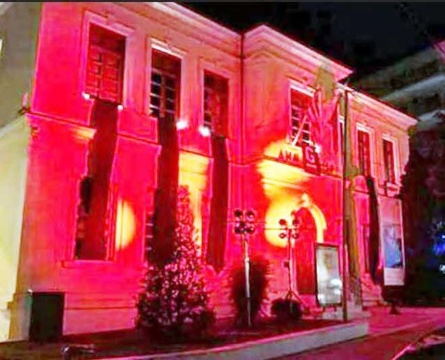 Φωταγωγείται το δημαρχείο στη Βέροια εις Μνήμην των θυμάτων της Γενοκτονίας του Ποντιακού Ελληνισμού